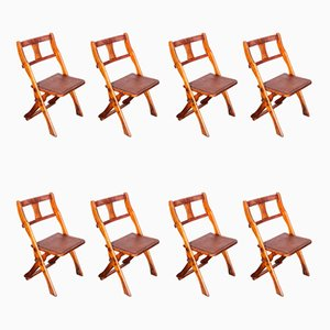 Sedie pieghevoli in teak di Drifter, anni '50, set di 10