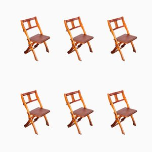Teak Folding Chairs from Drifter, 1950s, Set of 6