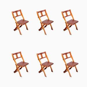 Teak Folding Chairs from Drifter, 1950s, Set of 6