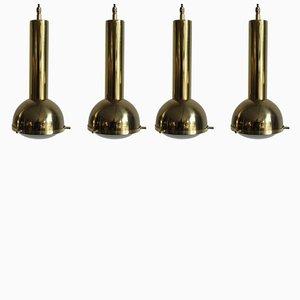 Lámparas de techo italianas de Galassia, años 50. Juego de 4