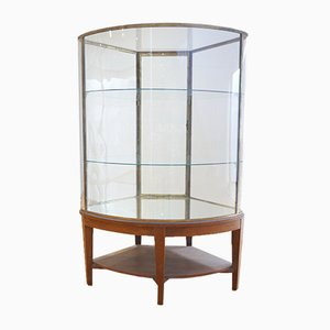 Vintage English Glass Display Cabinet, 1920s