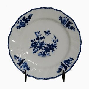 Plato Tournai antiguo de porcelana
