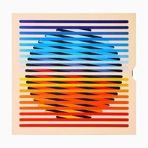 Affiche Op Art Irritations dans le Cercle par Jörg Osterspey pour BASF, années 60