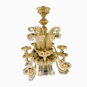 Gold Chandelier by Ercole Barovier, 1960s
