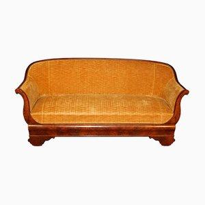 Antikes Biedermeier Sofa mit Gestell aus Nussholz, 1850er