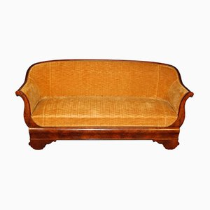 Antique Biedermeier Walnut Sofa, 1850s