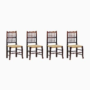 Antique Georgian Dining Chairs, Set of 4