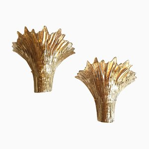 Italian Murano Glass Sconces by Ercole Barovier for Barovier & Toso, 1970s, Set of 2