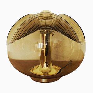 Lampe de Bureau Vague en Verre Fumé par Koch & Lowy pour Peill & Putzler, années 60
