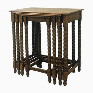 Tavolini ad incastro antichi in quercia
