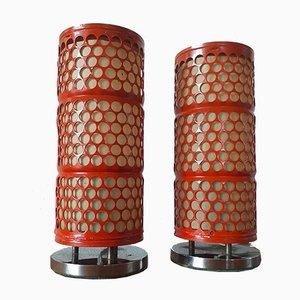 Lampes de Bureau Mid-Century par Josef Hurka pour Napako, années 60, Set de 2
