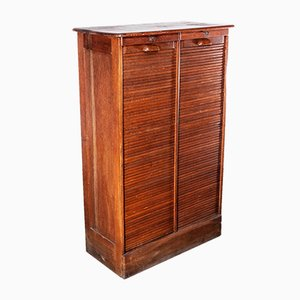 Tambour-Fronted Oak Cabinet from Thonet, 1930s