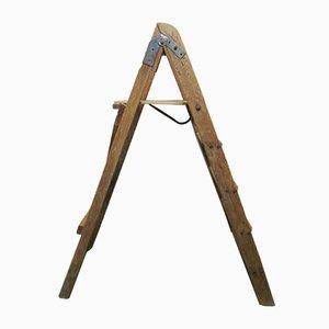 Escalera de mano de pino, años 50