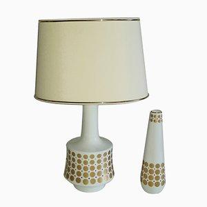 Lampe de Bureau et Vase de Bavaria Tirschenreuth, années 60, Set de 2