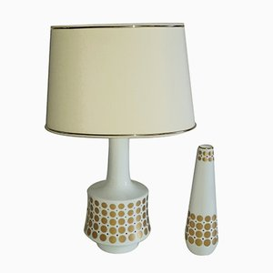 Table Lamp and Vase from Bavaria Tirschenreuth Set, 1960s