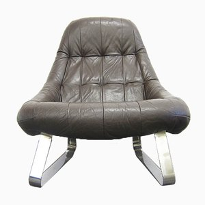 Leather Lounge Chair by Percival Lafer, 1970s