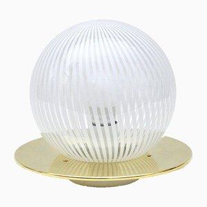 Lámpara de mesa vintage de cristal de Murano de Venini, años 70