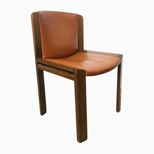 Italian Rosewood Model 300 Dining Chairs by Joe Colombo for Pozzi, 1960s, Set of 6