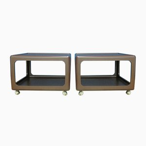 Tables Basses Mid-Century par Peter Ghyczy pour Horn Collection, Set de 2