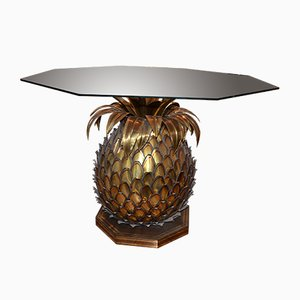 Illuminated Glass Pineapple Dining Table from Maison Jansen, 1970s