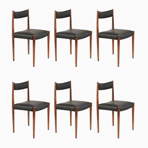Deutsche Esszimmerstühle aus Skai & Palisander von Lübke, 1960er, 6er Set