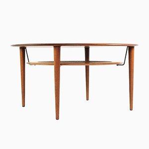 Round Teak Coffee Table by Peter Hvidt & Orla Mølgaard-Nielsen for France & Søn/France & Daverkosen, 1960s