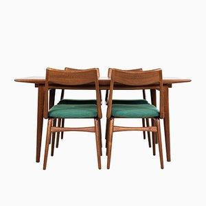 Juego de mesa de comedor y sillas Boomerang de palisandro y teca de Alfred Christensen para Slagelse Møbelværk, años 60. Juego de 5