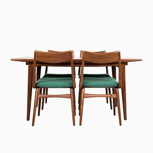 Rosewood and Teak Boomerang Dining Table & Chairs Set by Alfred Christensen for Slagelse Møbelværk, 1960s, Set of 5