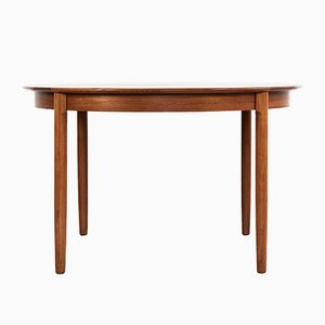 Round Danish Extendable Teak Dining Table, 1960s