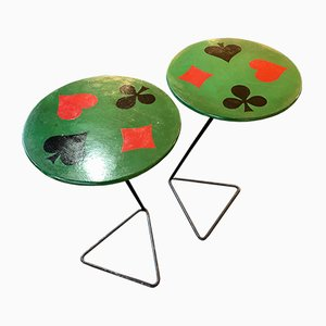 Mid-Century French Side Tables, 1950s, Set of 2