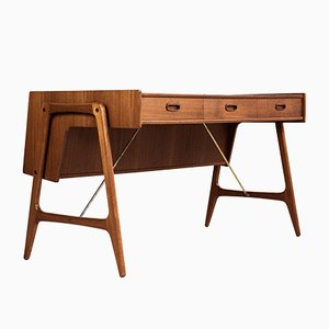 Danish Teak Desk by Arne Wahl Iversen, 1960s