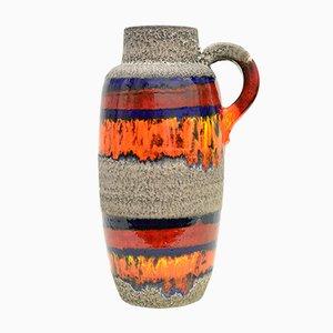Jarrón Fat Lava alemán vintage de cerámica de Scheurich, años 70