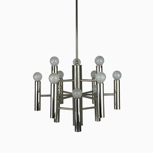Mid-Century Chrome Chandelier by Gaetano Sciolari for Sciolari, 1960s