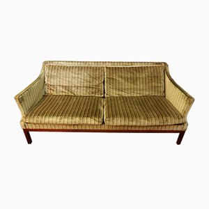 Rosewood and Velvet Sofa, 1960s