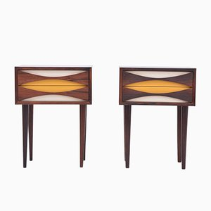 Rosewood Nightstands by Niels Clausen, 1960s, Set of 2