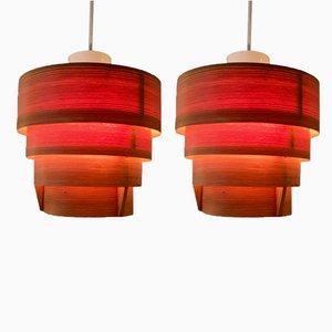Schwedische Elysett Deckenlampen aus Kiefernholz von Hans-Agne Jakobsson, 1960er, 2er Set