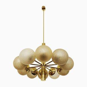 Lampadario Sputnik dorato di Kaiser Idell / Kaiser Leuchten, anni '60