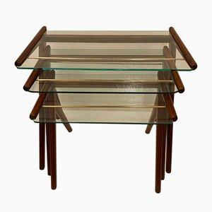 Tavolini ad incastro vintage, anni '50