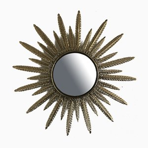 Belgian Brass Mirror from Deknudt, 1970s