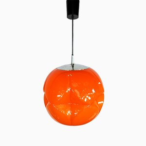Model AH97 Orange Ceiling Lamp from Peill & Putzler, 1970s
