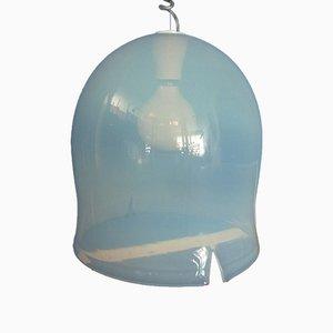 Lámpara colgante italiana de vidrio de Noti Massari para Leucos, años 60