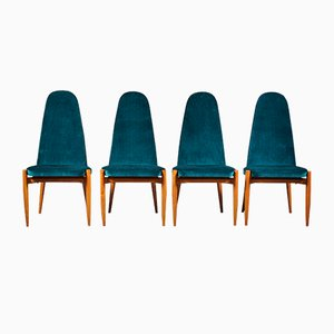 Dining Chairs by Miroslav Navratil, 1950s, Set of 4