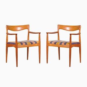 Mid-Century Beistellstühle aus Teak von Arne Vodder für Vamø, 2er Set