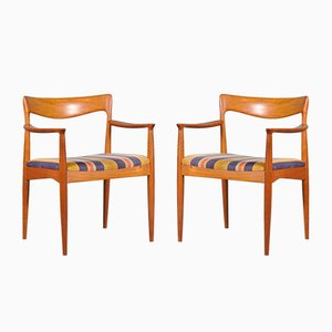 Mid-Century Teak Side Chairs by Arne Vodder for Vamø, Set of 2