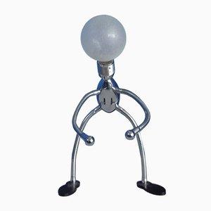 Lámpara de mesa de cromo de Leola, años 70
