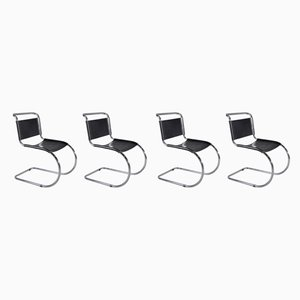 Vintage MR10 Dining Chairs by Ludwig Mies van der Rohe for Thonet, Set of 4
