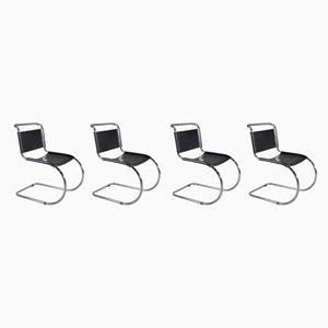 Vintage MR10 Esszimmerstühle von Ludwig Mies van der Rohe für Thonet, 4er Set