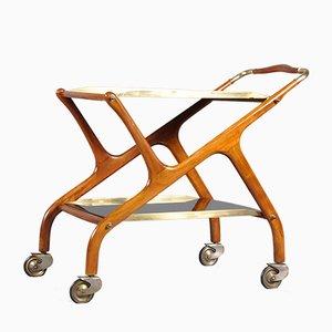 Mid-Century Italian Serving Bar Cart by Ico Luisa Parisi for De Baggis, 1950s