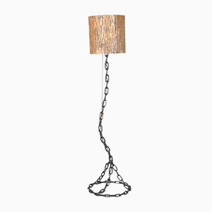 Vintage Iron Floor Lamp, 1980s