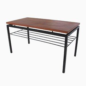 Mid-Century Beistelltisch aus Stahl mit Tischplatte aus Teak von Cees Braakman für Pastoe, 1950er